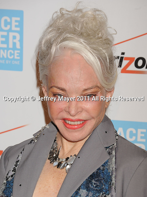 BEVERLY HILLS, CA - OCTOBER 28: Lois Aldrin arrives at Peace Over Violence 40th Annual Humanitarian Awards dinner at Beverly Hills Hotel on October 28, 2011 in Beverly Hills, California.