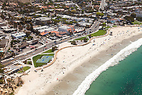 Main Beach Laguna Aerial Stock Photo