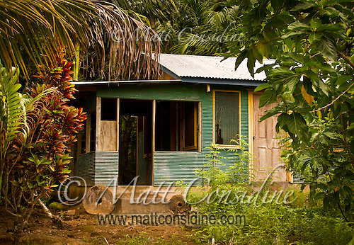 Local House with Family Stone Money Outside, Yap Micronesia (Photo by Matt Considine - Images of Asia Collection) (Matt Considine)