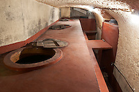 concrete vats bodegas frutos villar , cigales spain castile and leon