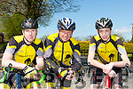 The Currow team that participated in the Johnny Drumm cycle race in Currow on Sunday l-r: Darragh Looney, Patrick Breen and Hugh McSweeney