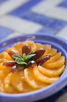 Afrique/Afrique du Nord/Maroc/Rabat: Hotel - Maison d'Hote Villa Mandarine - salades d'oranges aux dattes
