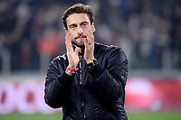 Former Juventus player Claudio Marchisio greets fans ahead the Serie A 2018/2019 football match between Juventus and AS Roma at Allianz Stadium, Roma, December 22, 2018 <br /> Foto OneNine / Insidefoto