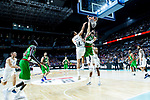 Real Madrid Gustavo Ayon and Kirolbet Baskonia Tornike Shengelia during Turkish Airlines Euroleague match between Real Madrid and Kirolbet Baskonia at Wizink Center in Madrid, Spain. October 19, 2018. (ALTERPHOTOS/Borja B.Hojas)