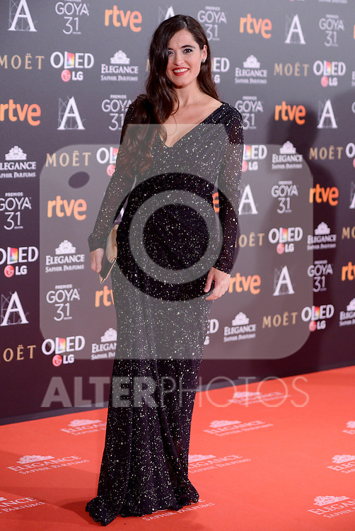 Silvia Perez Cruz attends to the Red Carpet of the Goya Awards 2017 at Madrid Marriott Auditorium Hotel in Madrid, Spain. February 04, 2017. (ALTERPHOTOS/BorjaB.Hojas)