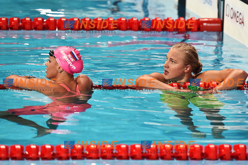 EFIMOVA Yuliya RUS Gold Medal, MEILUTYTE Ruta LTU Silver Medal Women's 100 Breaststroke <br /> Day12 04/08/2015 Kazan Arena <br /> Swimming Nuoto <br /> XVI FINA World Championships Aquatics  <br /> Kazan Tatarstan RUS <br /> Photo Andrea Staccioli/Deepbluemedia/Insidefoto