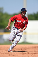 Boston Red Sox Nick Moore (17) during a minor league spring training game against the Baltimore Orioles on March 20, 2015 at Buck O'Neil Complex in Sarasota, Florida.  (Mike Janes/Four Seam Images)