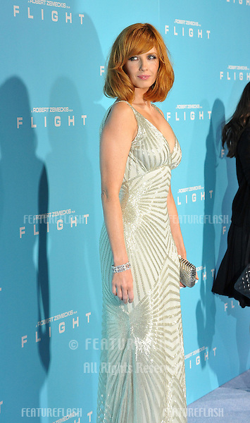 "Kelly Reilly at the Los Angeles premiere of her new movie ""Flight"" at the Cinerama Dome, Hollywood..October 23, 2012  Los Angeles, CA.Picture: Paul Smith / Featureflash"