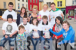 KINDNESS: Students from Mercy Mounthawk Secondry School, Tralee showed their kindness on Saturday in the Square Tralee by given out free sweets. Front l-r: Colm Carmody and Erin Flanagan. Seated ll-r: Liam Clarke, Ryan Williams, Annie O'Dowd, Dylan O'Connor-Desmond and Lucy Chung. Back l-r: Neil Finnegan,Katie Keane, Hazel Carmody, Aine Daly and Richard Raferty..