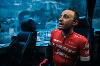 Gianluca Brambilla (ITA/Trek-Segafredo) back in the teambus after a hard day on the bike<br /> <br /> Trofeo Lloseta - Andratx: 140km<br /> 27th Challenge Ciclista Mallorca
