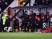 Lincoln City manager Danny Cowley, left, and Nicky Cowley in their dugout<br /> <br /> Photographer Andrew Vaughan/CameraSport<br /> <br /> The EFL Sky Bet League Two - Cambridge United v Lincoln City - Saturday 29th December 2018  - Abbey Stadium - Cambridge<br /> <br /> World Copyright © 2018 CameraSport. All rights reserved. 43 Linden Ave. Countesthorpe. Leicester. England. LE8 5PG - Tel: +44 (0) 116 277 4147 - admin@camerasport.com - www.camerasport.com