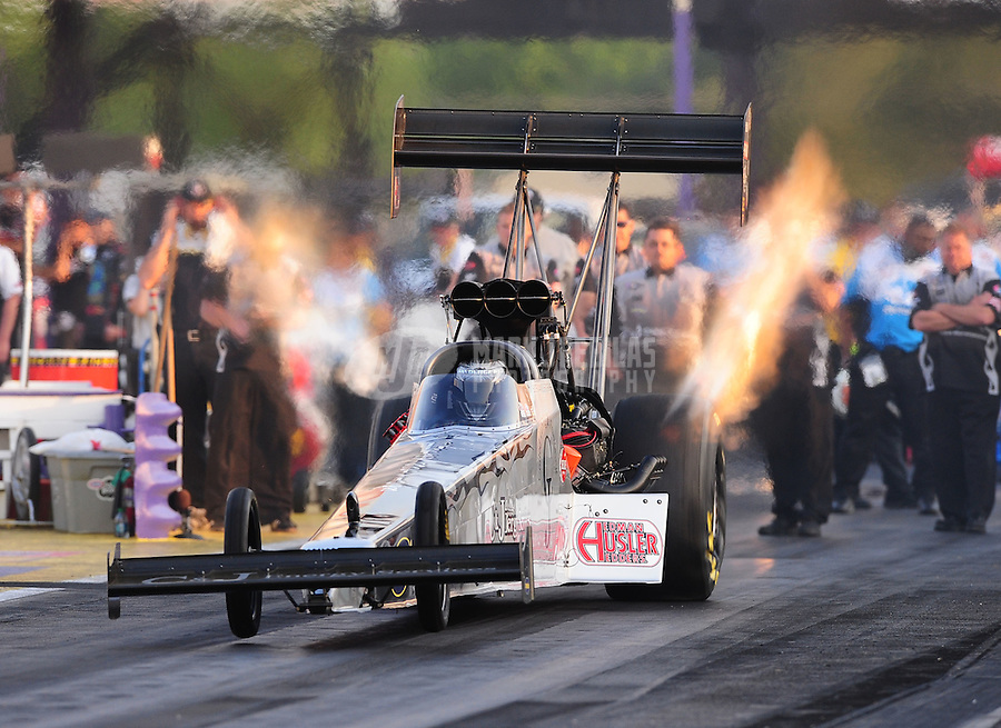 Apr. 29, 2011; Baytown, TX, USA: NHRA top fuel dragster driver Bob Vandergriff Jr during qualifying for the Spring Nationals at Royal Purple Raceway. Mandatory Credit: Mark J. Rebilas-