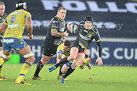 The Europeans rugby champion Cup round 5 match between the Ospreys and Clermont Auvergne at the Liberty Stadium on Friday 15th January 2016