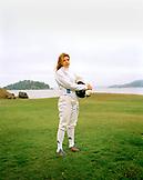 USA, California, portrait of a young woman Fencer, Tiburon