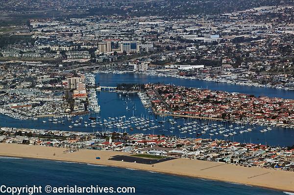 aerial photograph Newport Beach,  Orange County, California