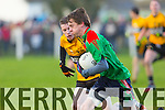 In Action Emmets Keneath Kelliher and Beale Tom Joy at the Bernard O'Callaghan Memorial Senior Football Championship final last Saturday Beale V Listowel Emmets
