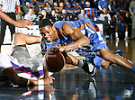 Texas-Arlington Mavericks guard Cameron Catlett (25) in action during the game between the Stephen F. Austin Lumberjacks and the UTA Mavericks held at the University of Texas at Arlington's, Texas Hall, in Arlington, Texas.  UTA defeats Stephen F. Austin  66 to 65 in overtime.
