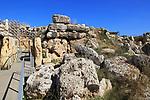 Ggantija neolithic megalithic 5500 years old prehistoric temple complex site Gozo, Malta
