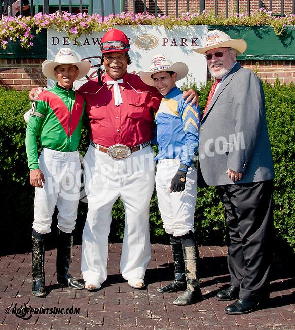 "Victor R. Carrasco, Hector ""Cowboy"" Jackson, Alex Cintron and Rich Glazier at Delaware Park on 10/2/13"
