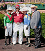 "Victor R. Carrasco, Hector ""Cowboy"" Jackson, Alex Cintron and Rich Glazier at Delaware Park on 10/2/13"