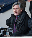 Former Prime Minister Gordon Brown settles down to watch his favourite team, Raith Rovers  ...