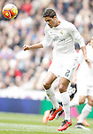 Real Madrid's Raphael Varane during La Liga match. February 13,2016. (ALTERPHOTOS/Acero)