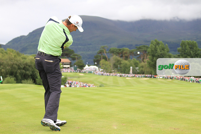 Padraig Harrington tees off on the 18th hole on the Final Day of the 3 Irish Open at the Killarney Golf & Fishing Club, 1st August 2010..(Picture Eoin Clarke/www.golffile.ie)