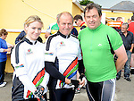 Jenny and Hugh McGuinness and Mark Lowth who took part in the Dromin 60k cycle in aid of Ardee Hospice Homecare. Photo: Colin Bell/pressphotos.ie