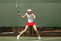 11 May 2007: Megan Doheny during the first round of the NCAA women's tennis tournament at the Taube Family Tennis Stadium in Stanford, CA.