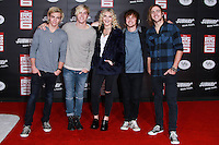 HOLLYWOOD, LOS ANGELES, CA, USA - NOVEMBER 04: Ellington Ratliff, Rydel Lynch, Ross Lynch, Riker Lynch, Rocky Lynch, R5 arrive at the Los Angeles Premiere Of Disney's 'Big Hero 6' held at the El Capitan Theatre on November 4, 2014 in Hollywood, Los Angeles, California, United States. (Photo by David Acosta/Celebrity Monitor)