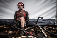 Diether Sweeck (BEL/Pauwels Sauzen - Bingoal) needing a post-race moment<br /> <br /> Jaarmarktcross Niel 2019 (BEL)<br /> <br /> ©kramon