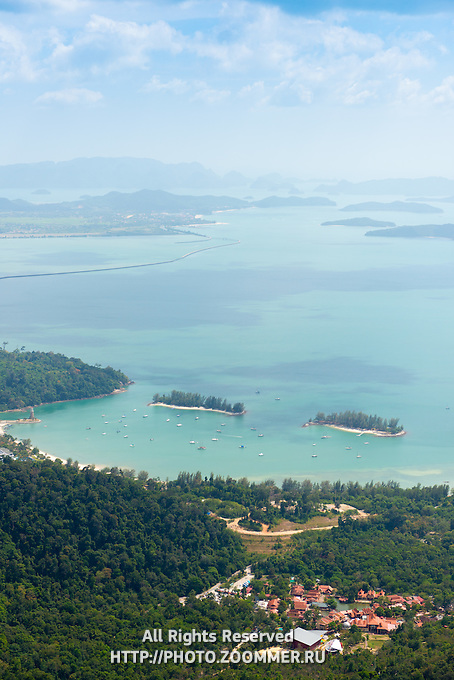 Langkawi landscape sea view from Gunung Machinchang