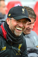 Liverpool manager Jürgen Klopp looks on<br /> <br /> Photographer Richard Martin-Roberts/CameraSport<br /> <br /> The Premier League - Liverpool v Chelsea - Sunday 14th April 2019 - Anfield - Liverpool<br /> <br /> World Copyright ¬© 2019 CameraSport. All rights reserved. 43 Linden Ave. Countesthorpe. Leicester. England. LE8 5PG - Tel: +44 (0) 116 277 4147 - admin@camerasport.com - www.camerasport.com