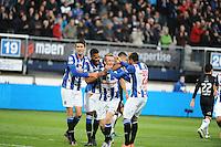 VOETBAL: HEERENVEEN: 23-10-2016, SC Heerenveen - Heracles, uitslag 3-1, Sam Larsson St. Juste scoort de 2-1, ©foto Martin de Jong