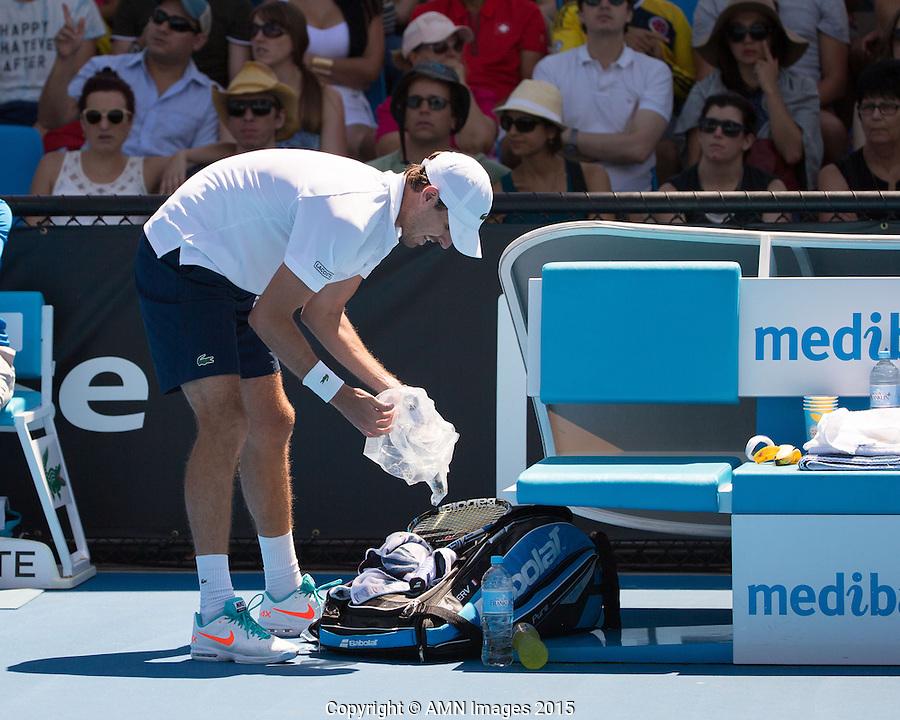 Edouard Roger-Vasselin (FRA)<br /> <br /> Tennis - Australian Open 2015 - Grand Slam -  Melbourne Park - Melbourne - Victoria - Australia  - 24 January 2015. <br /> &copy; AMN IMAGES