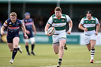 James Cordy-Redden of Ealing Trailfinders goes on the attack. Greene King IPA Championship match, between Ealing Trailfinders and Doncaster Knights on February 9, 2019 at the Trailfinders Sports Ground in London, England. Photo by: Patrick Khachfe / Onside Images