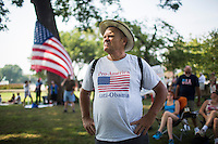 "The Tea Party holds an  ""Exempt America from Obamacare"" rally on Capitol Hill in Washington.  Sen. Ted Cruz (TX) and Sen. Rand Paul (KY) attended the event"