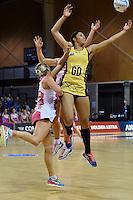 Pulse's Phoenix Karaka in action during the ANZ Championship - Central Pulse v Adelaide Thunderbirds at Te Rauparaha Arena, Porirua, New Zealand on Sunday 12 June 2016. <br /> Photo by Masanori Udagawa. <br /> www.photowellington.photoshelter.com.