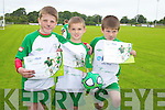 Pictured at the FAI Soccer Camp at Mounthawk Park on Friday were, l-r: Joe Sullivan, Thomas Maguire and Scott Ryan