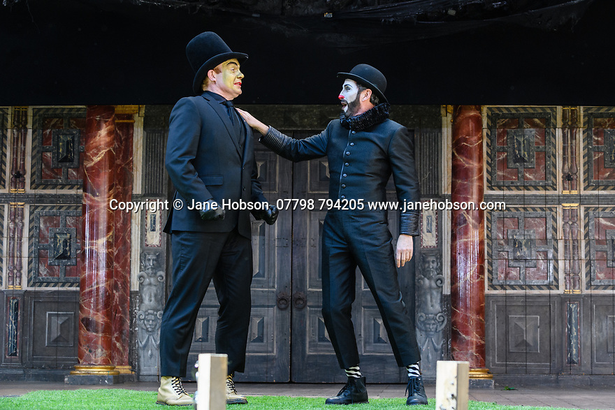 "Shakespeare's Globe presents ROMEO AND JULIET, by WIlliam Shakespeare, directed by Daniel Kramer, as part of Emma Rice's ""Summer of Love"" season. Picture shows: Tim Chipping (Paris), Gareth Snook (Lord Capulet)"