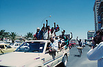 Independence celebrations  in Windhoek,  Namibia. Africa after  SWAPO won the 1989 independence elections.