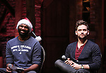 Nik Walker and Neil Haskell during a Q & A before the Gilder Lehman Institute of American History Education Matinee of 'Hamilton' at the Richard Rodgers  Theatre on December 15, 2016 in New York City.