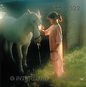 Interlitho, CHILDREN, photos, girl, white horse(KL1522,#K#) Kinder, niños