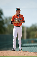 Baltimore Orioles pitcher Ryan Conroy (86) gets ready to deliver a pitch during a Florida Instructional League game against the Pittsburgh Pirates on September 22, 2018 at Ed Smith Stadium in Sarasota, Florida.  (Mike Janes/Four Seam Images)
