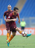 Calcio, Serie A: Roma vs Sampdoria. Roma, stadio Olimpico, 11 settembre 2016.<br /> Roma&rsquo;s Alessandro Florenzi controls the ball during the Italian Serie A football match between Roma and Sampdoria at Rome's Olympic stadium, 11 September 2016. Roma won 3-2.<br /> UPDATE IMAGES PRESS/Isabella Bonotto