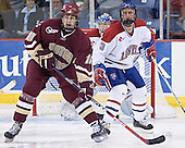 Brian Boyle (Peter Vetri) Grant Farrell - The Boston College Eagles defeated the University of Massachusetts-Lowell River Hawks 4-3 in overtime on Saturday, January 28, 2006, at the Paul E. Tsongas Arena in Lowell, Massachusetts.