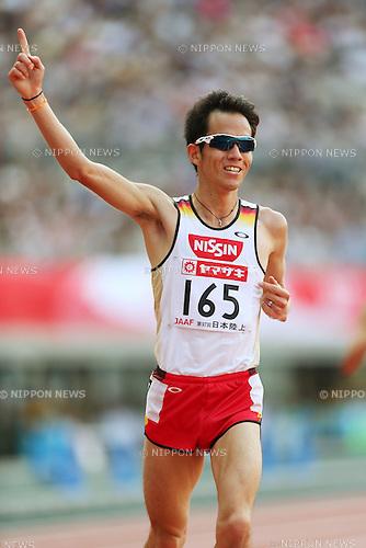 Yuki Sato (JPN), <br /> June 8, 2013 - Athletics : <br /> The 97th Japan Athletics National Championships, Men's 10000m Final <br /> at Ajinomoto Stadium, Tokyo, Japan. <br /> (Photo by Daiju Kitamura/AFLO SPORT)