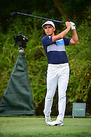 Rickie Fowler (USA) watches his drive on 3 during round 3 of the Honda Classic, PGA National, Palm Beach Gardens, West Palm Beach, Florida, USA. 2/25/2017.<br /> Picture: Golffile | Ken Murray<br /> <br /> <br /> All photo usage must carry mandatory copyright credit (&copy; Golffile | Ken Murray)