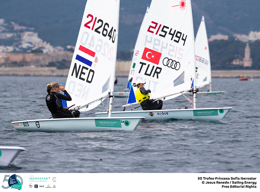 The Trofeo Princesa Sofia Iberostar celebrates this year its 50th anniversary in the elite of Olympic sailing in a record edition, to be held in Majorcan waters from 29th March to 6th April, organised by Club Nàutic S'Arenal, Club Marítimo San Antonio de la Playa, Real Club Náutico de Palma and the Balearic and Spanish federations. ©Jesus Renedo/SAILING ENERGY/50th Trofeo Princesa Sofia Iberostar<br /> 01 April, 2019.