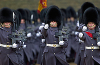 Guardsmen parading in London,UK